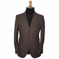 Gresham Blake Brown Donegal Tweed 3 Button Blazer