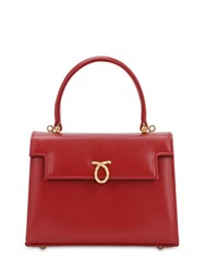 Launer Judy Smooth Leather Bag Ruby
