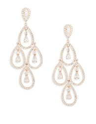Nadri Cubic Zirconia Chandelier Earrings Rose Gold