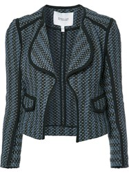 Derek Lam 10 Crosby Open Cropped Jacket Blue