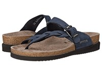 Mephisto Helen Twist Navy Nubuck Women's Sandals Blue