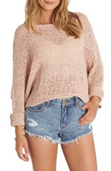Billabong Women's Dance With Me Knit Sweater Rose Dust