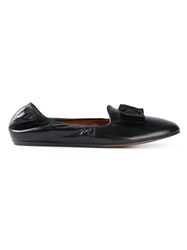 Lanvin Bow Detail Slippers Black