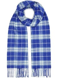 Burberry The Classic Vintage Check Cashmere Scarf Blue