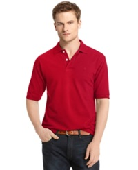 Izod Premium Pique Polo Shirt Real Red