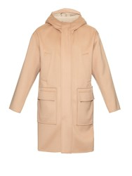 Valentino Shearling Lined Hood Double Faced Wool Parka