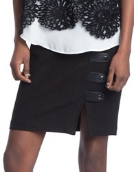 Plenty By Tracy Reese Tab Pencil Skirt Black