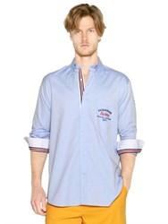 Paul And Shark Embroidered Cotton Oxford Shirt