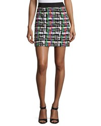 Milly Couture Tweed Mini Skirt Multi