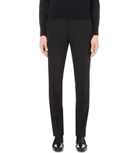 Tom Ford Regular Fit Wool Trousers Black