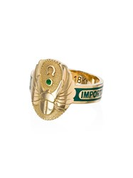 Foundrae Protection Diamond And Emerald Ring Gold Green