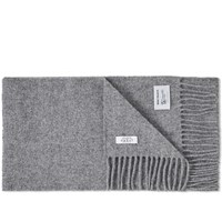 Norse Projects X Johnstons Of Elgin Lambswool Scarf Grey