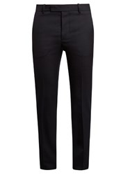 Marni Slim Leg Wool Trousers Navy
