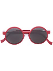 Vava Round Shaped Sunglasses Red