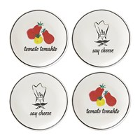 Kate Spade Any Way You Slice It Pizza Plates Set Of 4
