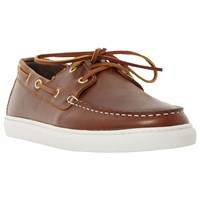 Bertie Butterscotch Leather Boat Shoes Brown