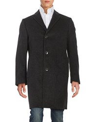 Black Brown Wool And Cashmere Coat