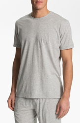 Daniel Buchler Peruvian Pima Cotton T Shirt Grey Heather
