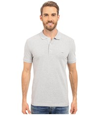 Lacoste Stretch Petit Piqu Slim Fit Polo Silver Chine Men's Short Sleeve Pullover