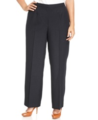 Kasper Plus Size Pants Wide Leg Trousers