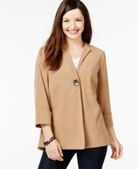Jm Collection Moleskin Topper Jacket Only At Macy's Suede