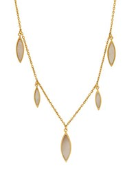Lord And Taylor Mother Of Pearl 14K Yellow Gold Teardrop Dangle Necklace