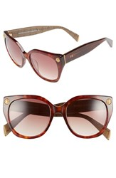 Women's Freida Rothman 'Margaux Elegant' 54Mm Retro Sunglasses Tortoise