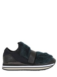 Crime 30Mm Neoprene And Faux Fur Sneakers