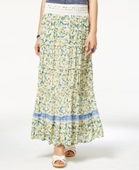 American Rag Printed Crochet Trim Maxi Skirt Only At Macy's Chamios Combo