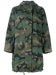 Valentino Peace Camouflage Parka Green
