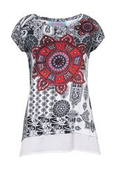 Desigual T Shirt Bandy White