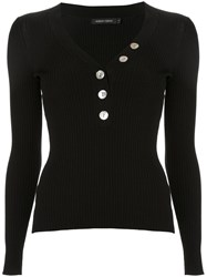 Nobody Denim Nolita Buttoned Jumper Black