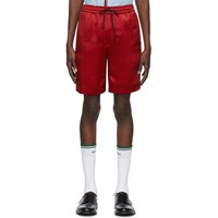 Gucci Red And Black Gg Shorts
