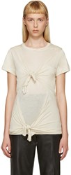 Marques Almeida Beige Slashed And Knotted T Shirt