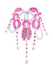 Night Market Beaded Necklace Pink And Purple