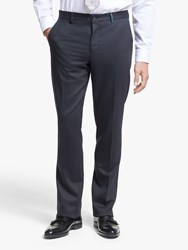 Paul Smith Flecked Wool Blend Tailored Fit Suit Trousers Navy Red