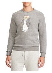 Ralph Lauren Purple Label Bear Applique Sweatshirt Grey