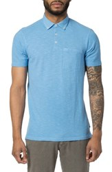 Good Man Brand Men's Carbon Peach Polo Silver Lake Blue