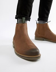 Barbour Farsley Leather Chelsea Boots In Brown