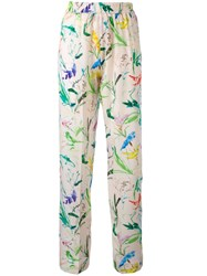 N 21 No21 Floral Print Trousers Nude Neutrals