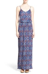 Junior Women's Lush Knit Maxi Dress Blue Taupe