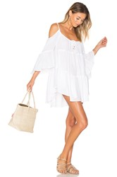Ale By Alessandra Say Oui Cold Shoulder Dress White