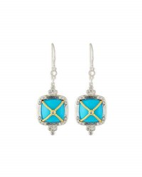 Jude Frances Wrapped Cushion Turquoise Dangle And Drop Earrings