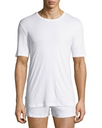 Hanro Sea Island Cotton Crewneck Tee White