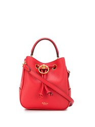 Mulberry Small Hampstead Bucket Bag Red