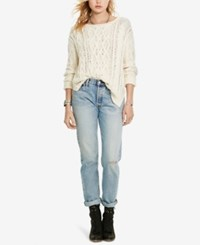 Denim And Supply Ralph Lauren Cable Knit Sweater Cream