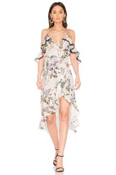 Nicholas Iris Floral Wrap Dress White