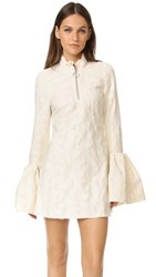 Marques Almeida Flared Cuff Mini Dress Ivory