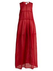 On The Island Tiered Semi Sheer Cotton Voile Dress