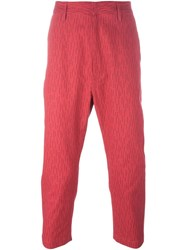 Golden Goose Deluxe Brand Cropped Trousers Red